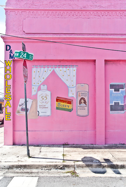 BEFORE: Folk art advertising murals decorate this warehouse at Northwest 2nd Avenue and 24th Street in Miami's then up-and-coming Wynwood neighborhood in 2008. The next image in this gallery shows the same location in 2018.