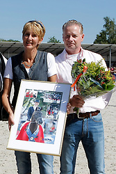 Scholtens Emmelie (NED) - Astrix<br /> Ten Bosch E.  breeders Astrix<br /> Perlee Peter en Marijke owners of Astrix<br /> KWPN Paardendagen Ermelo 2010<br /> © Dirk Caremans