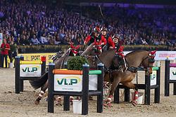 Voutaz Jerome, SUI, Belle du Peupe CH, Eva III CH, Leon, Leny CH<br /> Vlaanderens Kerstjumping<br /> Memorial Eric Wauters<br /> Jumping Mechelen 2017<br /> © Hippo Foto - Dirk Caremans<br /> 31/12/2017