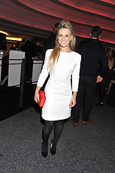 GEORGIE THOMPSON at the launch of famed American fitness club 'Equinox' 99 High Street Kensington, London on 23rd October 2012.