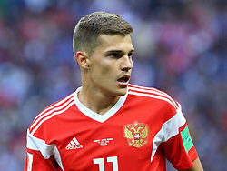 June 14, 2018 - Moscow, Russia - 14 June 2018, Russia, Moscow, FIFA World Cup, First Round, Group A, First Matchday, Russia vs Saudi Arabia at the Luzhniki Stadium. Player Roman Zobnin  (Credit Image: © Russian Look via ZUMA Wire)