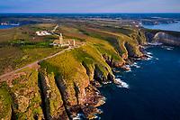 France, Bretagne, Côtes d'Armor (22), Côte d'Emeraude, le phare du Cap Fréhel // France, Brittany, Cotes d'Armor (22), Cap Frehel lighthouse