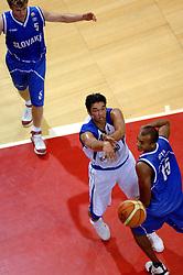 06-09-2006 BASKETBAL: NEDERLAND - SLOWAKIJE: GRONINGEN<br /> De basketballers hebben ook de tweede wedstrijd in de kwalificatiereeks voor het Europees kampioenschap in winst omgezet. In Groningen werd een overwinning geboekt op Slowakije: 71-63 / Arvin Slagter<br /> ©2006-WWW.FOTOHOOGENDOORN.NL