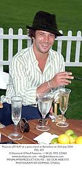 Musician JAY KAY at a polo match in Berkshire on 25th July 2004.PXL 425