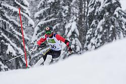 Mazi Remi of Belarus during Slalom race at 2019 World Para Alpine Skiing Championship, on January 23, 2019 in Kranjska Gora, Slovenia. Photo by Matic Ritonja / Sportida