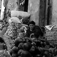 Egypt. Cairo : street sharia   al Mu'izz Li Din Allah north part<br /> street life and market , near Bab al Futuh gate  Cairo - Egypt  <br /> /<br /> rue -sharia   al Mu'izz Li Din Allah partie nord, pres de la  porte de Bab al Futuh, marche scenes de rue  Le Caire - Egypt