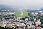 runway approach shot Innsbruck Kranebitten Airport (IATA: INN, ICAO: LOWI) Tyrol, Austria