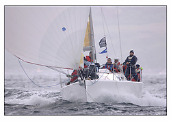 The second days racing at the Bell Lawrie Yachting Series in Tarbert Loch Fyne ...Strong winds, high seas and heavy rain dominated the day...J109 Jaru GBR709 in Class 2