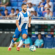BARCELONA, SPAIN - August 18:  Matias Vargas #22 of Espanyolin action during the Espanyol V  Sevilla FC, La Liga regular season match at RCDE Stadium on August 18th 2019 in Barcelona, Spain. (Photo by Tim Clayton/Corbis via Getty Images)