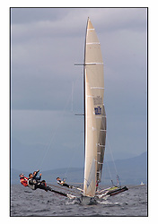 The 2004 Skiff Nationals at Largs held by the SSI.<br /> Hermes helmed by Grant Rollerson.<br /> <br /> Marc Turner / PFM Pictures