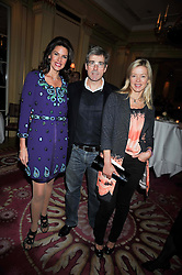 Left to right, CHRISTINA ESTRADA-JUFFALI and TIM & LADY HELEN TAYLOR at a reception to launch Films Without Borders held The Lanesborough Hotel, London on 8th October 2009.