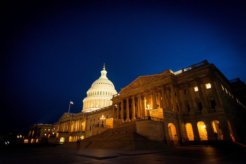 The US Capital  building, Washington DC.