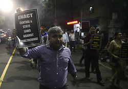 July 4, 2017 - Kolkata, West Bengal, India - Young Bengal activists participate in a torch rally against the communal violence in country on July 4, 2017 in Kolkata. (Credit Image: © Saikat Paul/Pacific Press via ZUMA Wire)