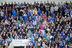 Bristol Rovers' fans at Plymouth  - Photo mandatory by-line: Dougie Allward/JMP - Tel: Mobile: 07966 386802 07/09/2013 - SPORT - FOOTBALL -  Home Park - Plymouth - Plymouth Argyle V Bristol Rovers - Sky Bet League Two