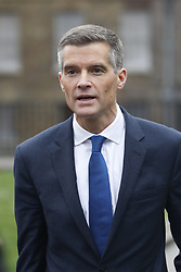 © Licensed to London News Pictures. 05/12/2018. London, UK. London, UK. Former chief whip Mark Harper talks to reporters near Parliament. Today the House of Commons will debate on the Brexit withdrawal agreement for the second day ahead of the meaningful vote. Photo credit: Peter Macdiarmid/LNP
