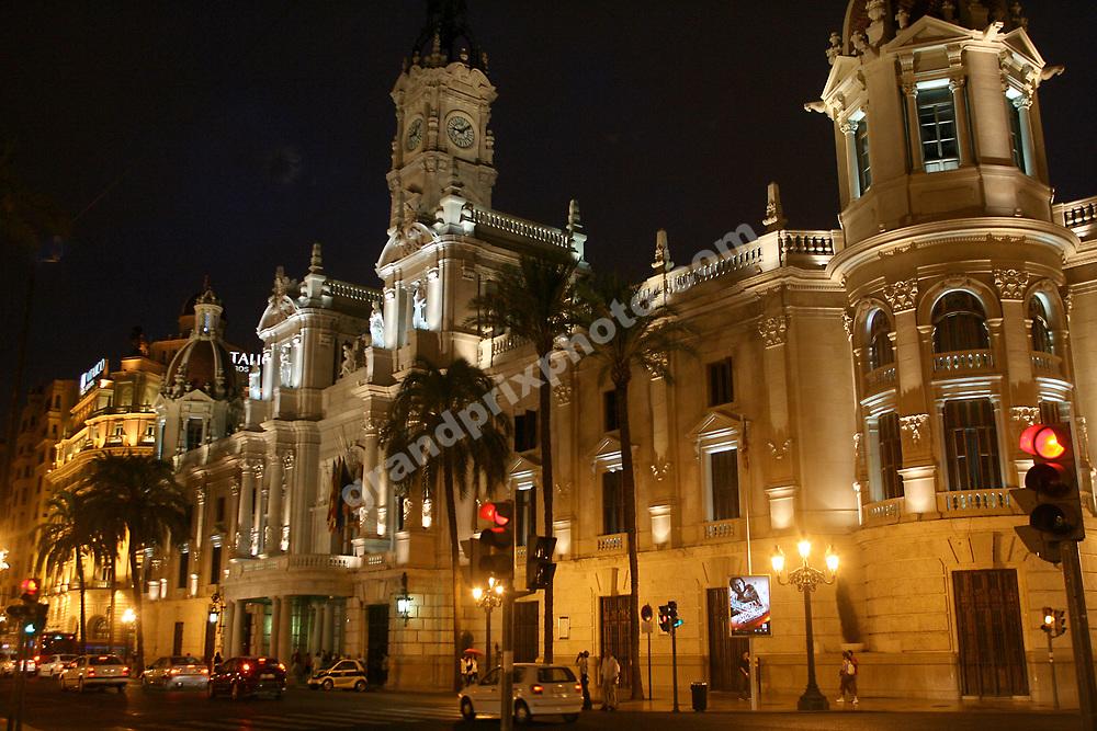 The Council House at Plaza del Ayuntamiento before the 2008 European Grand Prix in Valencia. Photo: Grand Prix Photo