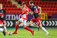 Charlton Athletic midfielder Albie Morgan (19) and Doncaster Rovers midfielder Ben Whiteman (8) during the The FA Cup 2nd round match between Charlton Athletic and Doncaster Rovers at The Valley, London, England on 1 December 2018. Photo by Toyin Oshodi
