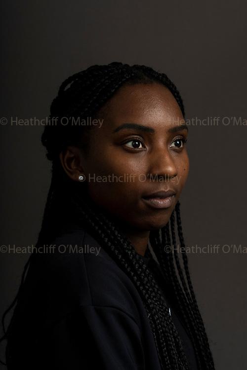 Mcc0097307 . Daily Telegraph<br /> <br /> DT Sport<br /> <br /> British Sprinter Bianca Williams . <br /> <br /> <br /> London 20 October 2020