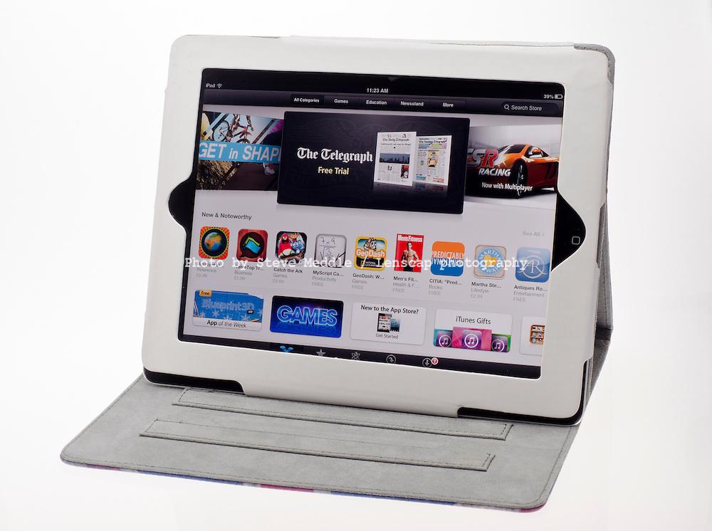 Apple Ipad showing The App Store - Jan 2013.