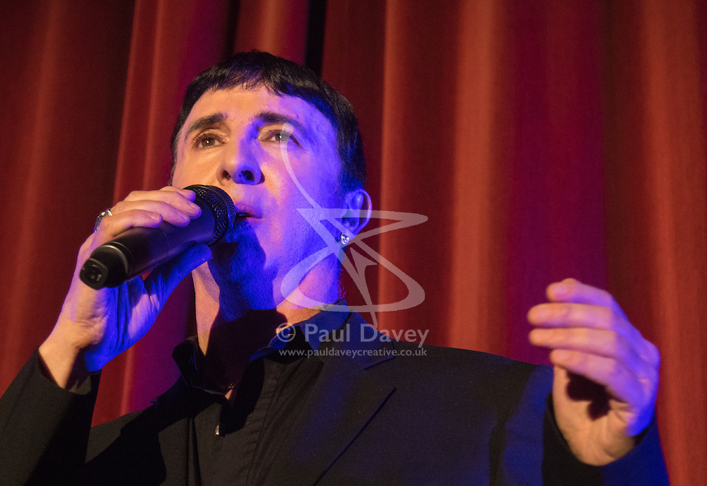 Old Town Hall, Stratford, London - 28 November 2015. Singers Marc Almond, Ronan Parke, Heather Peace and Asifa Lahore headline the Peter Tatchell Foundation's inaugural Equality Ball, a fundraiser for the foundation's LGBTI and human rights work, with guest of honour Sir Ian McKellen  joined by Paul O'Grady, Rupert Everett and Michael Cashman. PICTURED:  Marc Almond performs for the guests. //// FOR LICENCING CONTACT: paul@pauldaveycreative.co.uk TEL:+44 (0) 7966 016 296 or +44 (0) 20 8969 6875. ©2015 Paul R Davey. All rights reserved.