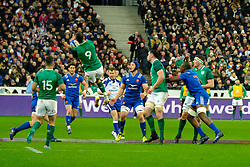 February 3, 2018 - Saint Denis, Seine Saint Denis, France - The scrum-half of Irish team CONOR MURRAY in action during the NatWest Six Nations Rugby tournament between France and Ireland at the Stade de France - St Denis - France..Ireland Won 15-13 (Credit Image: © Pierre Stevenin via ZUMA Wire)