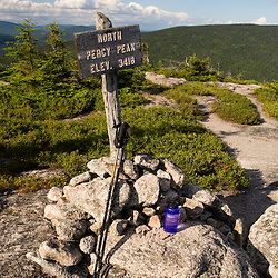 The summit of  North Percy Peak in Stratford, New Hampshire.