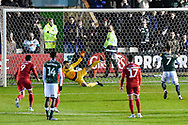 Goal - Antoni Sarcevic (7) of Plymouth Argyle scores a goal from the penalty spot to make the score 1-1 during the EFL Sky Bet League 2 match between Plymouth Argyle and Crawley Town at Home Park, Plymouth, England on 28 January 2020.