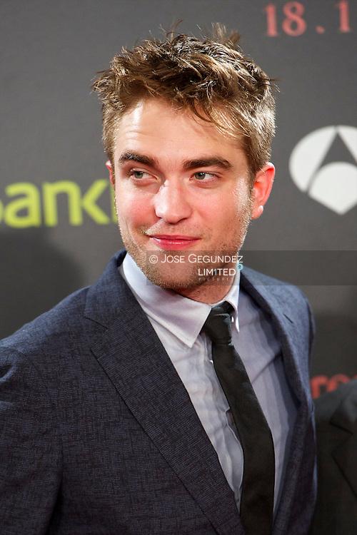 US Actor Robert Pattinson attends the Spain premiere of The Twilight Saga: Breaking Dawn Part 1 at Forum del Centro de Convenciones Internacional in Barcelona, Spain