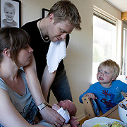 Aarhus, Denmark, June 12nd, 2010. Christian and Jane have three sons: Kristoffer, Simon and Matthias. Christian, danish, 34, is working as a computer programmer and is going to take three months of paternity leave.