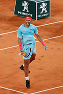 Rafael NADAL (ESP) reacted after winning his match during the Roland Garros 2020, Grand Slam tennis tournament, on October 6, 2020 at Roland Garros stadium in Paris, France - Photo Stephane Allaman / ProSportsImages / DPPI