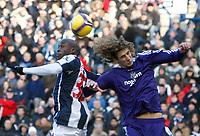 Photo: Steve Bond/Richard Lane Photography. West Bromwich Albion v Newcastle United. Barclays Premiership. 07/02/2009. Marc-Antoine Fortune (L) and Fabricio Coloccini (R) in the area