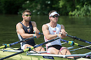 Henley Royal Regatta, Henley on Thames, Oxfordshire, GBR M2X. Bow Bill LUCAS and Matt LANGRIDGE. 3-7 July 2013.  Friday  10:45:37   05/07/2013  [Mandatory Credit/Intersport Images]<br /> <br /> Rowing, Henley Reach, Henley Royal Regatta.<br /> <br /> The Double Sculls Challenge Cup<br /> W.P. Lucas & M.K. Langridge (London Rowing Club and Leander Club)