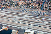 Aerial view of Las Vegas city and airport, Nevada, USA