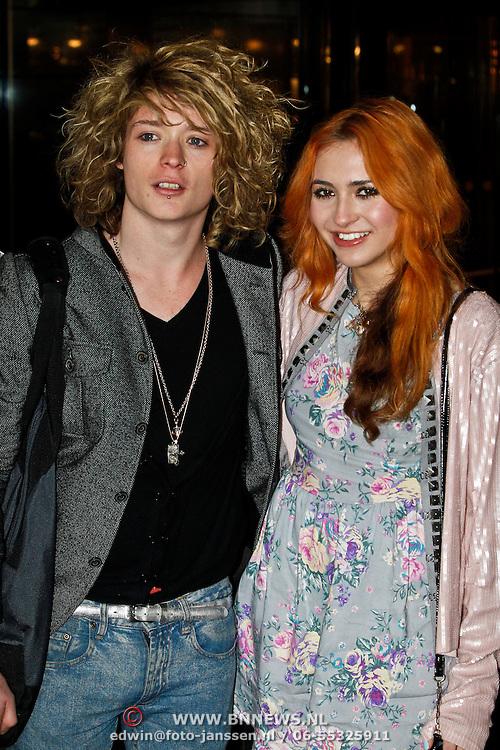 NLD/Amsterdam/20100331 - Christina Curry is geland op Schiphol met haar partner Baxter