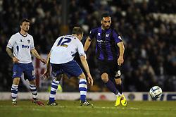 Bristol Rovers' Kaid Mohamed plays a pass - Photo mandatory by-line: Dougie Allward/JMP - Mobile: 07966 386802 01/04/2014 - SPORT - FOOTBALL - Bury - Gigg Lane - Bury v Bristol Rovers - Sky Bet League Two