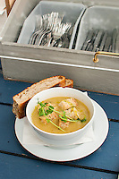 Organic soup at Rosendals Trädgård & Kafe on Djurgården