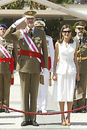 071818 Spanish Royals attends the Delivery of Royal Offices in the Central Academy of Defense