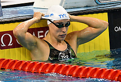 Rikke Pedersen of denmark compete in the Women 100m Breaststroke Final of FINA/airweave Swimming World Cup Doha 2017 at the Hamad Aquatic Centre in Doha , capital of Qatar on October. 04, 2017.Rikke Pedersentook won the silver medal with 1:04.55 with 1:04.21 second (Xinhua/Nikku (Credit Image: © Nikku/Xinhua via ZUMA Wire)