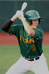 11 August 2012:  Andrew Cohn bats during a Frontier League Baseball game between the River City Rascals and the Normal CornBelters at Corn Crib Stadium on the campus of Heartland Community College in Normal Illinois.  The CornBelters take this game in 9 innings 7 - 2 with a 5 run 2nd inning.