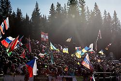 Spectators  during Men 15 km Mass Start at day 4 of IBU Biathlon World Cup 2015/16 Pokljuka, on December 20, 2015 in Rudno polje, Pokljuka, Slovenia. Photo by Vid Ponikvar / Sportida
