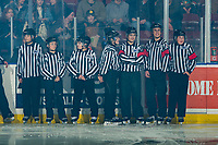 KELOWNA, BC - FEBRUARY 7:  BC minor hockey officials enter the ice to celebrate Minor Hockey Officials day at the Kelowna Rockets against the Portland Winterhawks at Prospera Place on February 7, 2020 in Kelowna, Canada. (Photo by Marissa Baecker/Shoot the Breeze)