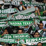 Bursaspor's supporters during their Turkish soccer super league match Bursaspor between Kayserispor at Ataturk Stadium in Bursa Turkey on Saturday, 01 May 2010. Photo by TURKPIX