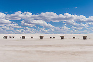 Rest area at White Sands National Monument, New Mexico.