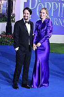 Lin-Manuel Miranda and Emily Blunt, Mary Poppins Returns European Premiere, Royal Albert Hall, Kensington Gore, London, UK, 12 December 2018, Photo by Richard Goldschmidt