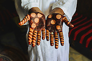 Henna made for the groom on the first day of the week-long ceremony of his wedding