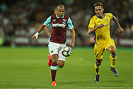 Sofiane Feghouli of West Ham United in action. UEFA Europa league, 3rd qualifying round match, 2nd leg, West Ham Utd v NK Domzale at the London Stadium, Queen Elizabeth Olympic Park in London on Thursday 4th August 2016.<br /> pic by John Patrick Fletcher, Andrew Orchard sports photography.