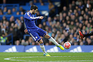 Cesc Fabregas of Chelsea takes a shot at goal. The Emirates FA Cup, 5th round match, Chelsea v Manchester city at Stamford Bridge in London on Sunday 21st Feb 2016.<br /> pic by John Patrick Fletcher, Andrew Orchard sports photography.
