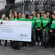 Cancer Research Coalition delivers partition to 10 Downing Street. Hope for UK government will fund £120 million to cancer research; 21th October 2021, London, UK.