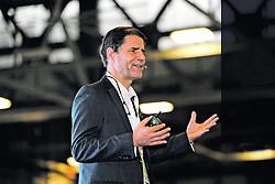 """September 28, 2018 - (29/09/2018) El conferencista suizo Mathis Wackernagel, creador del concepto de 'huella ecológica', abrió el segundo día de conferencias del I Congreso de Sostenibilidad, Innovación y Evolución (SEE 2018) que se desarrolla en Parque Viva, en la Guácima de Alajuela. PROHIBIDO EL USO O REPRODUCCIÃ""""N EN COSTA RICA. (Credit Image: © Rafael Murillo/La Nacion via ZUMA Press)"""