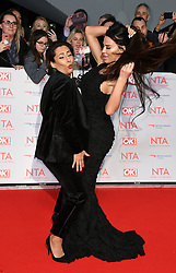 Saira Khan and Katie Price attending the National Television Awards 2018 held at the O2, London. Photo credit should read: Doug Peters/EMPICS Entertainment